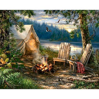 Sprinkbok 500 Piece Puzzle Evening at the Lake (EA1)