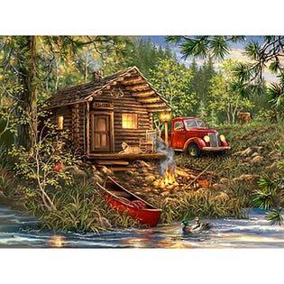 Springbok 500 Piece Puzzle Cozy Cabin Life (EA1)