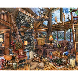 Spingbok 1000 Piece Puzzle The Hunting Lodge (EA1)