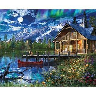 Springbok 1000 Piece Puzzle Moon Cabin Retreat (EA1)