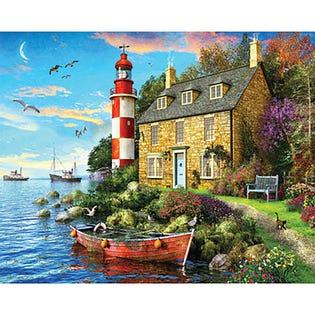 Springbok 1000 Piece Puzzle Cottage Lighthouse (EA1)