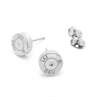 Brass & Unity Studfinder Earrings Silver