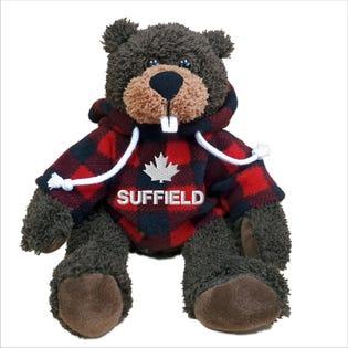 "Suffield Beaver Plush 10"""