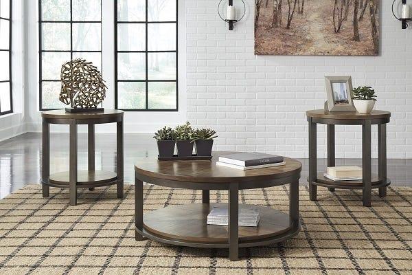 ASHLEY Occasional Table Set Roybeck (3/cn)