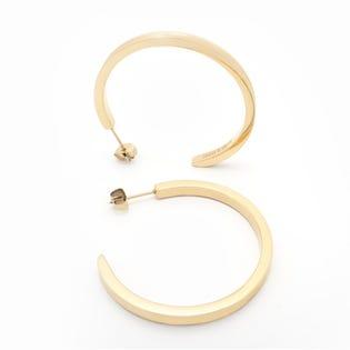 Brass & Unity Unity Hoop Earrings Gold
