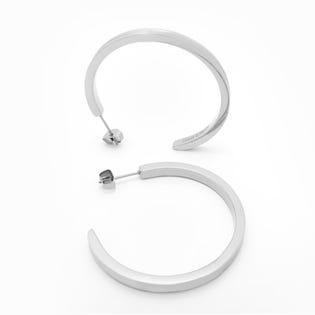 Brass & Unity Unity Hoops Earrings Silver