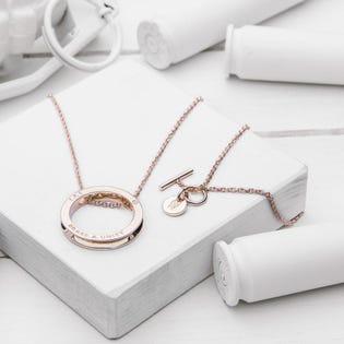 Brass & Unity Unity Necklace Rose Gold (EA1)