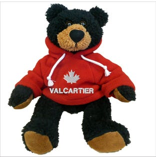 Valcartier Black Bear Plush 10""