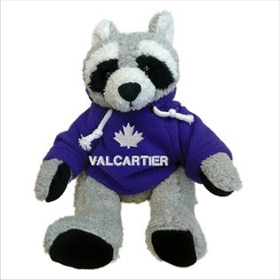 Valcartier Raccoon Plush 10""