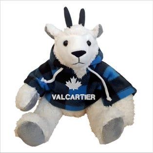 Chèvre Valcartier en peluche de 10 po