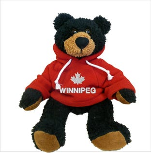 Winnipeg Black Bear Plush 10""