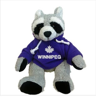 Winnipeg Raccoon Plush 10""