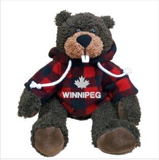 Castor Winnipeg en peluche de 10 po