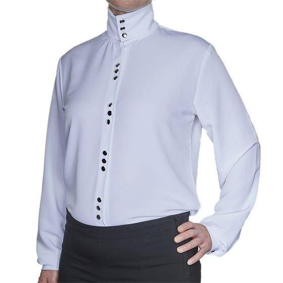Women's Mess Dress Blouse - Silver