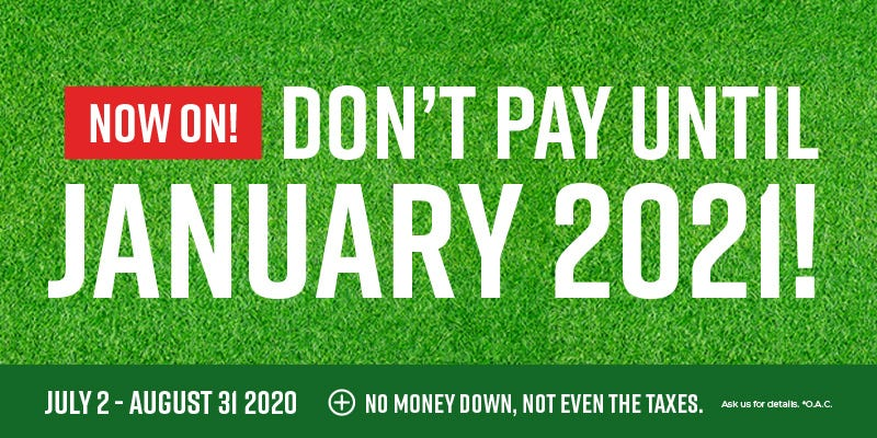 Don't Pay Until January 2021